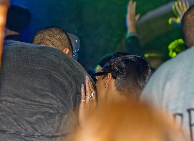 Rihanna and Chris Brown partying together around 1am at Adagio Nightclub at the aftershow party for Chris Brown&#39;s concert at o2 arena. Berlin, Germany - 23.11.2012