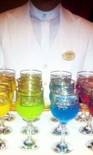 Kim Kardashian tucks into colourful cocktails in Kuwait