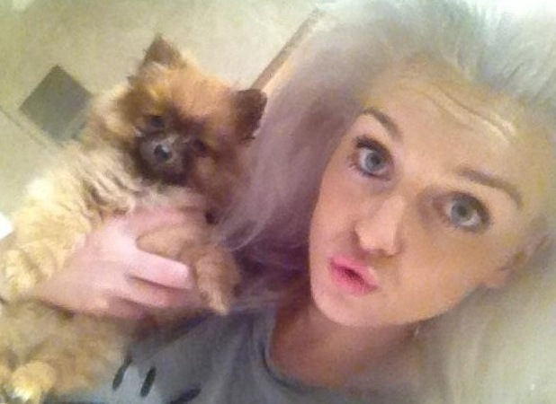Little Mix's Perrie Edwards with Hatchi