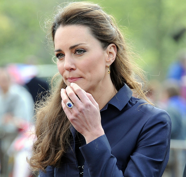 Kate Middleton wears her engagement ring as she visits Witton Country Park. It is the final official engagement before her wedding. Darwen, England - 11.04.11, ***Not Available for publication in the France. Available for Publication in the Rest of the World*** Mandatory Credit: Anwar Hussein/WENN.com