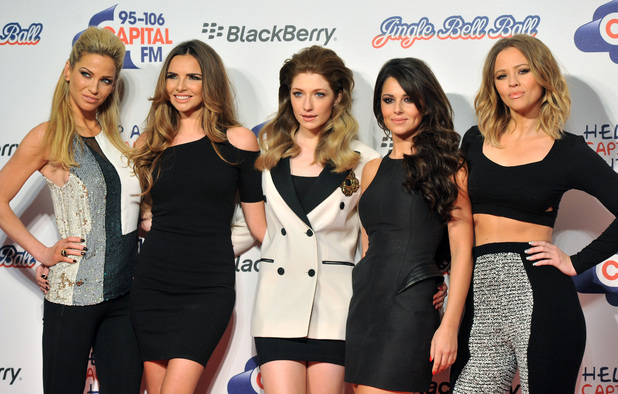 Miss Mode: Sarah Harding, Nadine Coyle, Nicola Roberts, Cheryl Cole and Kimberly Walsh of Girls Aloud Capital FM Jingle Bell Ball held at the O2 Arena - Arrivals London, England - 09.12.12 Mandatory Credit: Daniel Deme/WENN.com