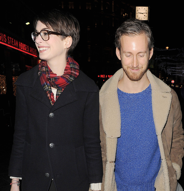 Anne Hathaway and her husband Adam Shulman visit the Empire Cinema in Leicester Square, with her 'Les Miserables' co-stars. London, England - 04.12.12 Mandatory Credit: Will Alexander/WENN.com