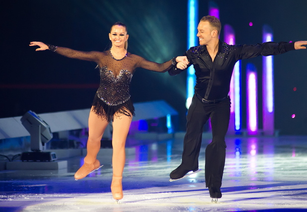 Jennifer Ellison and Professional Daniel Whiston Torvill & Dean's 2012 Dancing On Ice The Tour held at the National Indoor Arena Birmingham, UK - 27.04.12 Mandatory Credit: Anthony Stanley/WENN.com