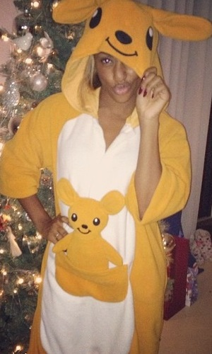 Miss Mode: Alexandra Burke in a onesie