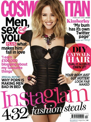 Kimberley Walsh Cosmopolitan cover, February issue