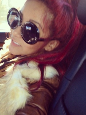 Miss Mode: Snooki on the way to hair salon
