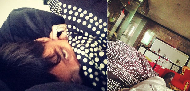 Reveal: Rihanna and Chris Brown tweet photos from bed composite