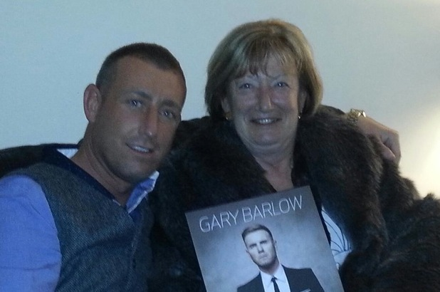 Christopher Maloney and his mum
