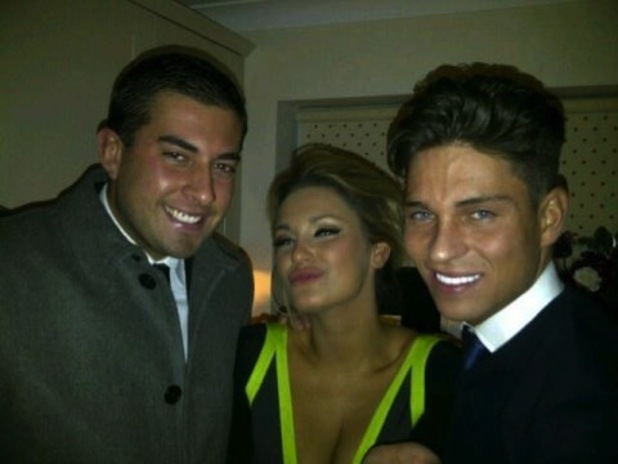 TOWIE's James Arg Agent, Samantha Faiers and Joey Essex at Sam's birthday party