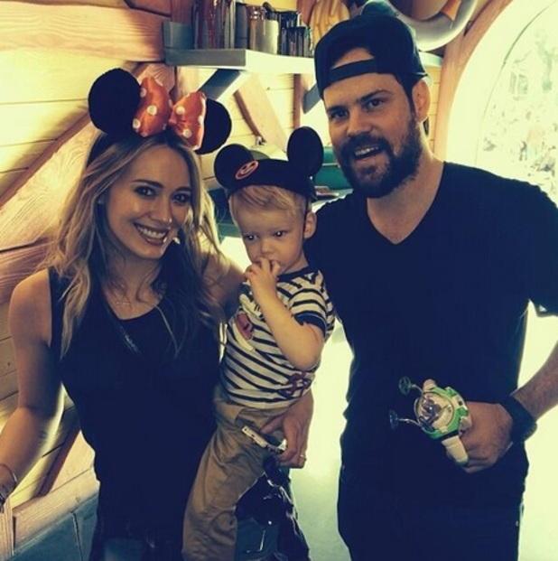 Hilary Duff and Luca Cruz at Disneyland, 28 December 2013