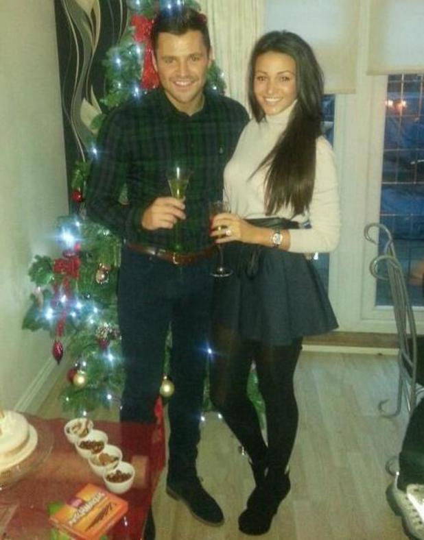 Mark Wright and Michelle Keegan on Christmas Day - 25 December 2013
