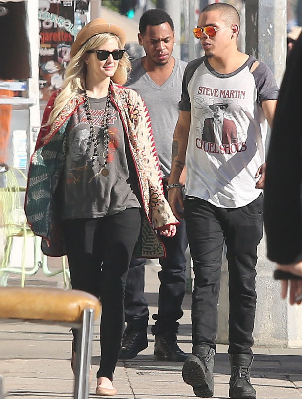 Ashlee Simpson out and about in West Hollywood with boyfriend Evan Ross - 29 December 2013