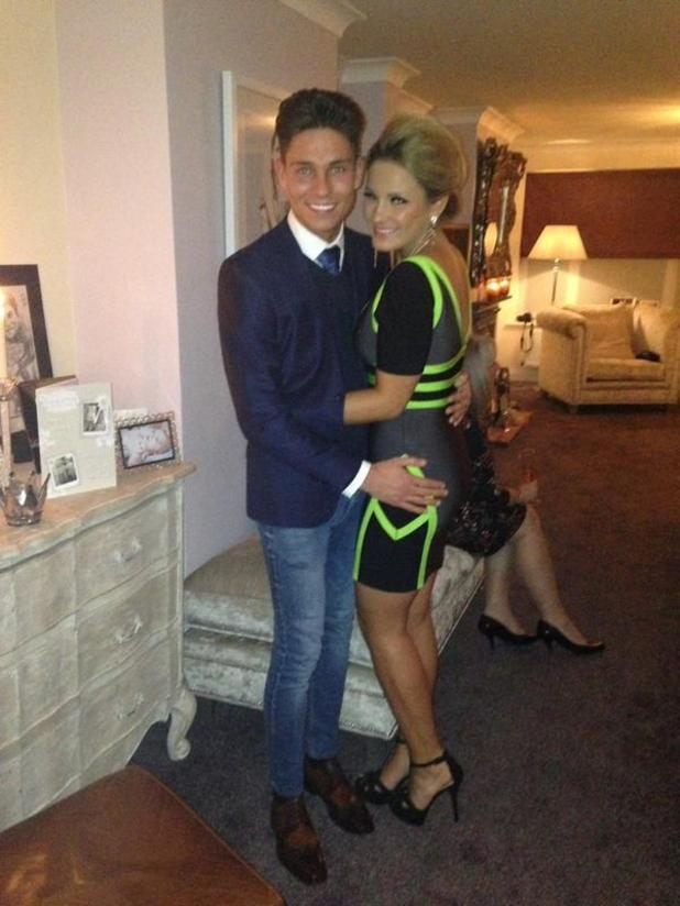 Joey Essex and Sam Faiers at party