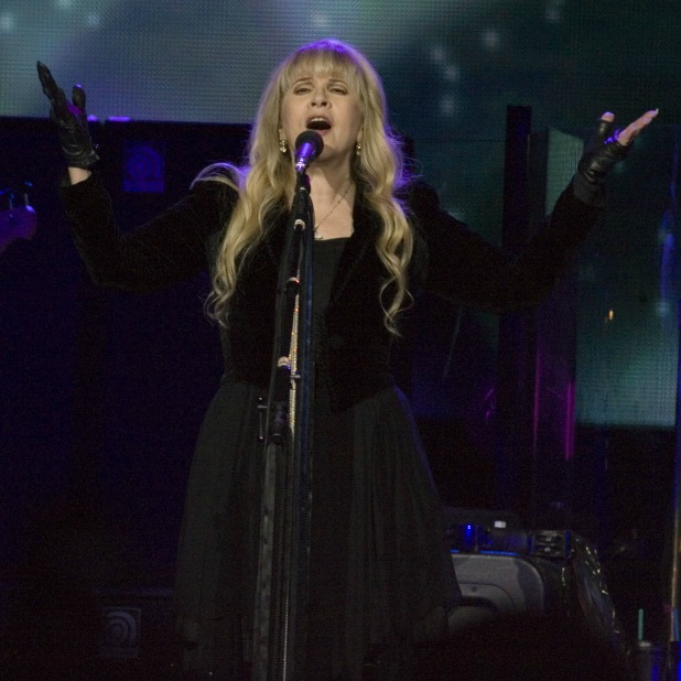 Stevie Nicks. Fleetwood Mac playing a headline gig at the Hydro in the SECC in Glasgow, 3 October 2013