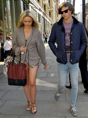 Emily Atack with Jack Vacher September 2012