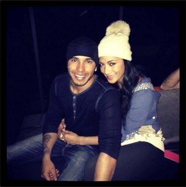 Lewis Hamilton celebrates birthday with girlfriend Nicole Scherzinger at bowling.
