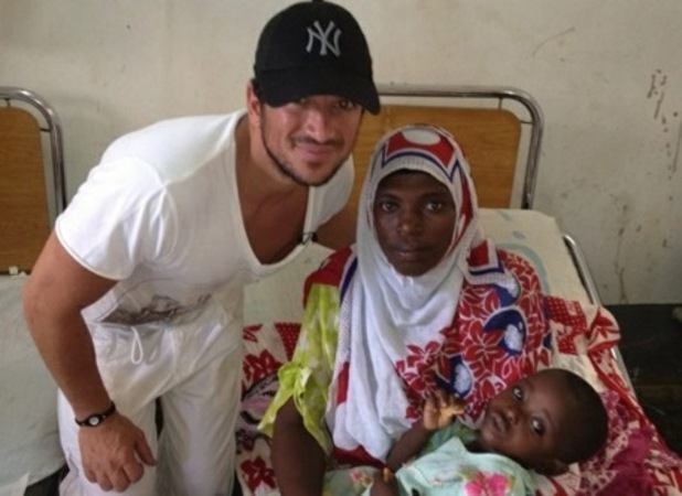 Peter Andre visits Zanzibar - February 2012