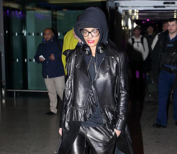 Miss Mode: Rita Ora at Heathrow airport