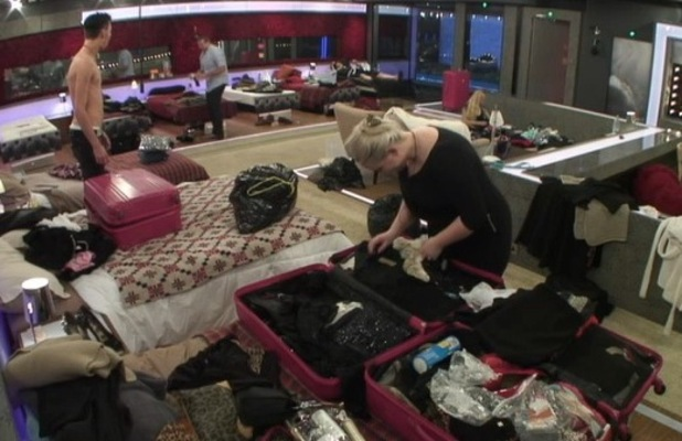 Housemates pack ahead of final