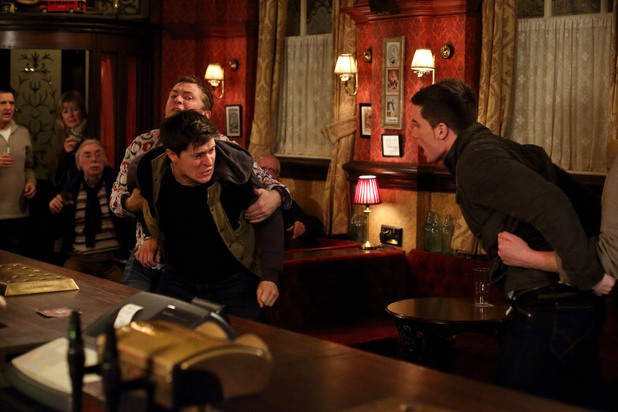 EastEnders, Tyler punches Joey, Tue 29 Jan