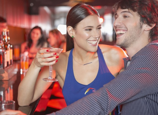 Stock image, couple drinking, Rex