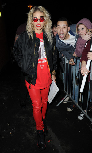 Rita Ora leaves the Manchester Academy after the first night performce of her UK tourFeaturing: Rita Ora Where: Manchester, United Kingdom When: 28 Jan 2013 Credit: Steve Searle/WENN.com