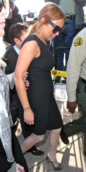 Lindsay Lohan is seen arriving at a Los Angeles court for her car crash case pretrial hearingFeaturing: Lindsay Lohan,Dina Lohan Where: Los Angeles, California, United States When: 30 Jan 2013 Credit: STS/WENN.com