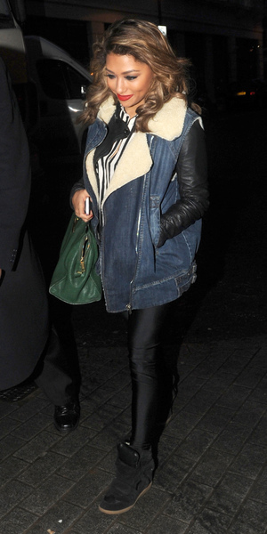 The Saturdays arrive at the BBC Radio 1 studiosFeaturing: Vanessa White