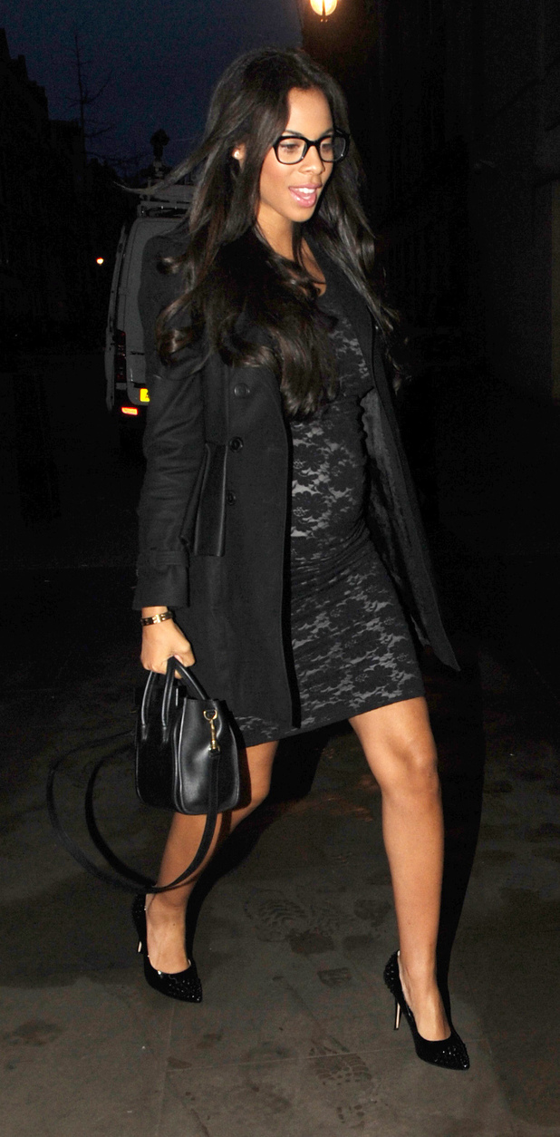 The Saturdays arrive at the BBC Radio 1 studiosFeaturing: Rochelle Wiseman,Rochelle Humes