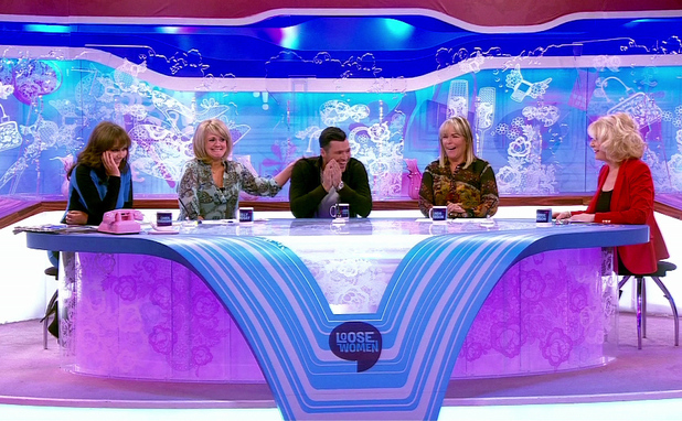 Loose Women. Shown on ITV1 HDFeaturing: Mark Wright,Sally Lindsey,Carol Vorderman,Linda Robson,Sherrie Hewson When: 31 Jan 2013 Credit: Supplied by WENN**WENN does not claim any ownership including but not limited to Copyright or License in the attached material. Any downloading fees charged by WENN are for WENN's services only, and do not, nor are they intended to, convey to the user any ownership of Copyright or License in the material. By publishing this material you expressly agree to indemnify and to hold WENN and its directors, shareholders and employees harmless from any loss, claims, damages, demands, expenses (including legal fees), or any causes of action or  allegation against WENN arising out of or connected in any way with publication of the material.offline**