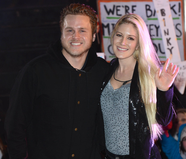 Heidi Montag and Spencer Pratt at the Celebrity Big Brother Final 2013, Elstree Studios, Hertfordshire.