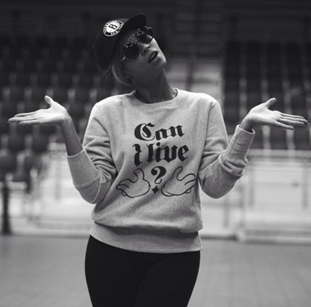 Beyoncé picture from her rehearsals from Super Bowl