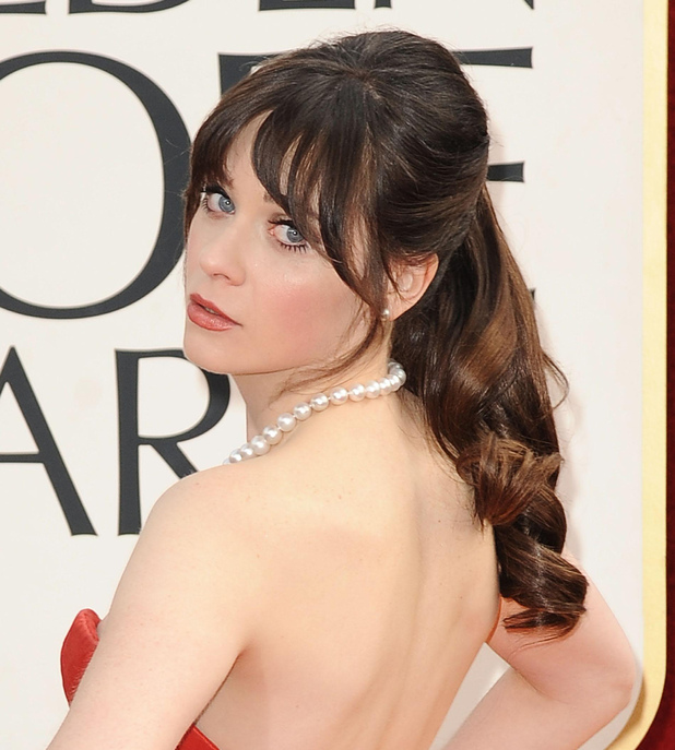 Zooey Deschanel, 70th Annual Golden Globe Awards, Arrivals, Los Angeles, America - 13 Jan 2013