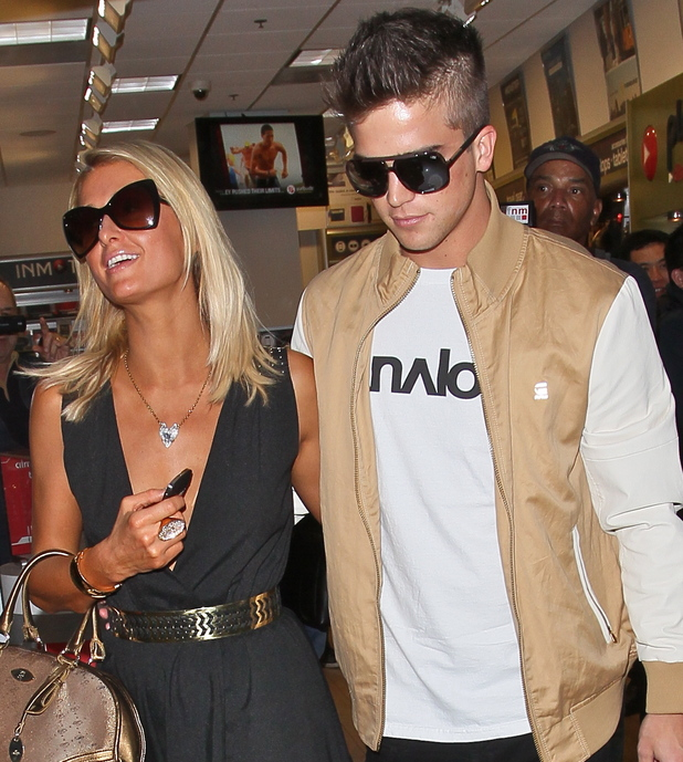 Paris Hilton and boyfriend River Viiperi seen arriving at LAX Airport for a flight. Before going through security they shop for sunglasses and earphones. Featuring: Paris Hilton,River Viiperi Where: Los Angeles, California, United States When: 26 Jan 2013 Credit: STS/WENN.com