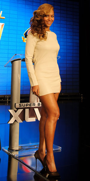 Beyonce at the Super Bowl press conference in New Orleans