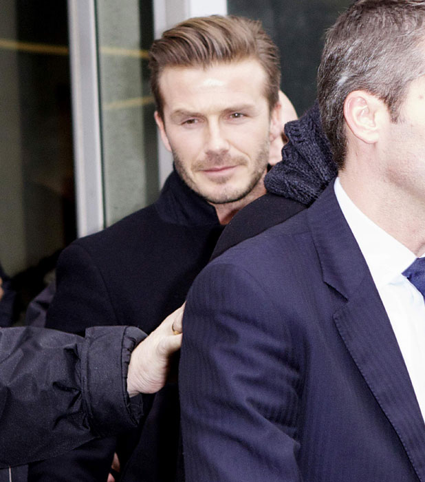 David Beckham arrives in Paris