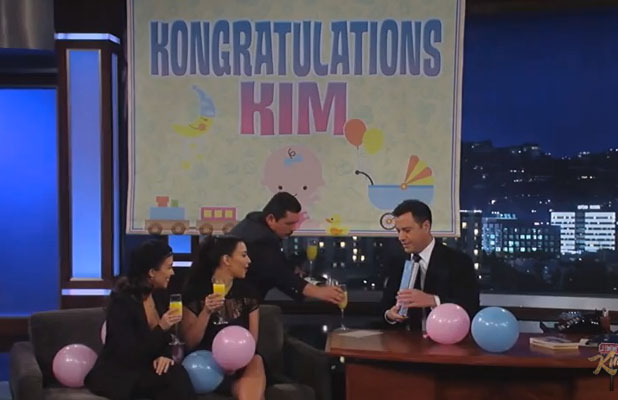 Kim Kardashian baby shower on Jimmy Kimmel