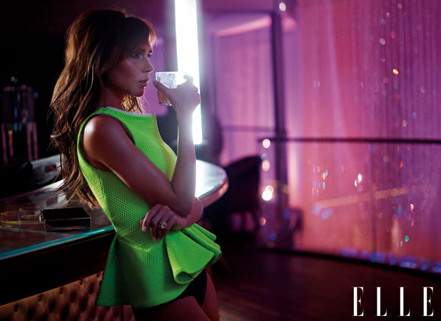 ONE USE ONLY: Victoria Beckham in ELLE UK March issue