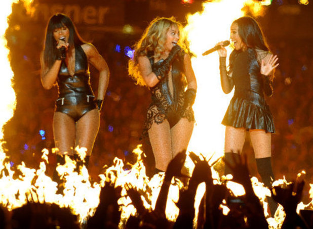 From left, Recording artists Kelly Rowland, Beyonce and Michelle Williams of Destiny's Child perform at Super Bowl XLVII on Sunday, Feb. 3, 2013 in New Orleans. (Photo by Jordan Strauss/Invision/AP)