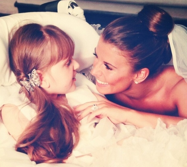 Coleen Rooney and sister Rosie on wedding day