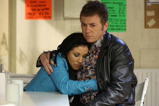 EastEnders, Alfie comforts Kat, Fri 15 Feb
