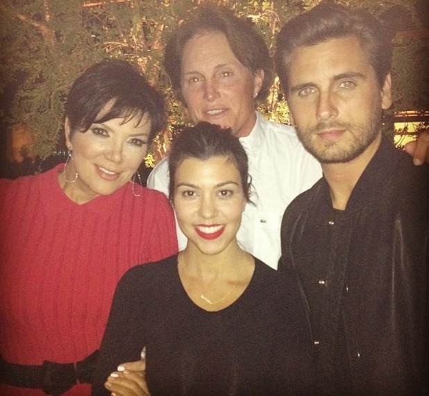 Kourtney Kardashian and Scott Disik bump into Kris Jenner and Bruce Jenner on Valentine's Day  - 14 Feb 2013