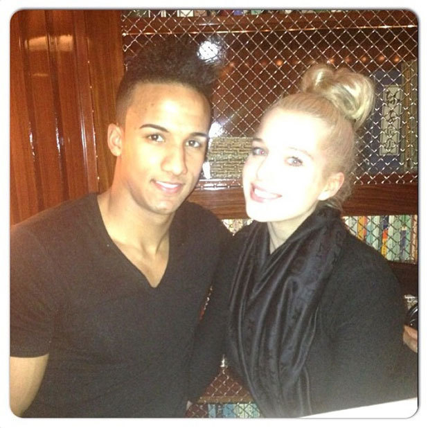 Helen Flanagan and Scott Sinclair in a Twitter picture