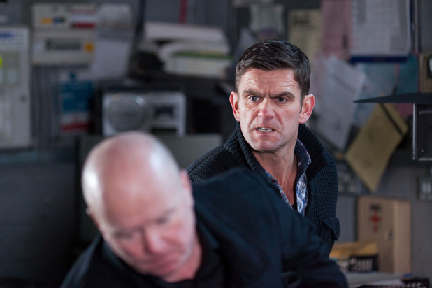 EastEnders, Jack punches Phil, Mon 25 Feb