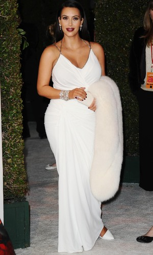 85th Annual Academy Awards Oscars, Elton John AIDS Foundation Party, Los Angeles, America - 24 Feb 2013 Kim Kardashian 24 Feb 2013