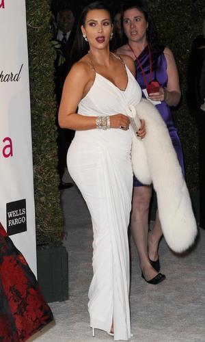 85th Annual Academy Awards Oscars, Elton John AIDS Foundation Party, Los Angeles, America - 24 Feb 2013 Kim Kardashian 24 Feb 2013