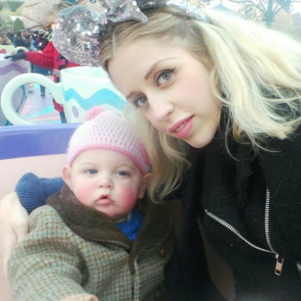 Peaches Geldof with son Astala as Disneyland