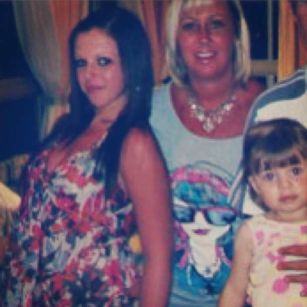 Geordie Shore's Holly Hagan as a young teenager with her mum and sister - 11 March 2013