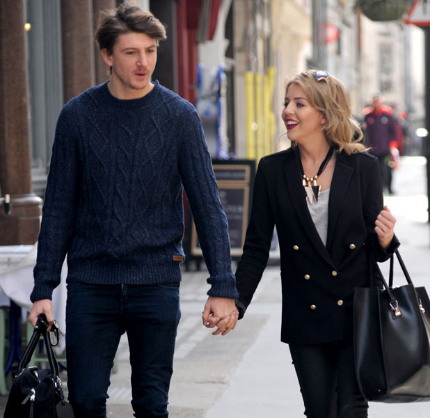 Lydia Bright shows off her new darker, longer hair while out and about in central London with boyfriend Tom Kilbey in 12 March 2013