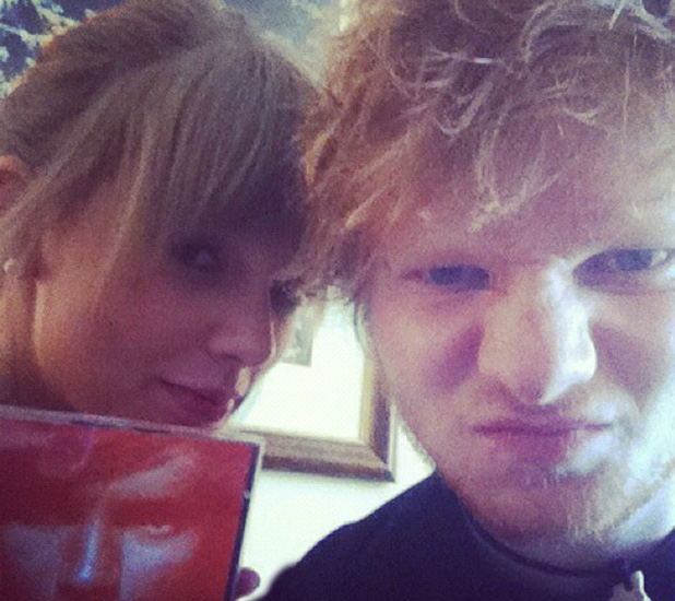 Ed Sheeran posted this image of himself and Taylor Swift on Instagram with the caption 'Duet coming soon....' credit:Ed Sheeran/Instagram - 16.08.12, Supplied by WENN.com (WENN does not claim any Copyright or License in the attached material. Any downloading fees charged by WENN are for WENN's services only, and do not, nor are they intended to, convey to the user any ownership of Copyright or License in the material. By publishing this material, the user expressly agrees to indemnify and to hold WENN harmless from any claims, demands, or causes of action arising out of or connected in any way with user's publication of the material.)